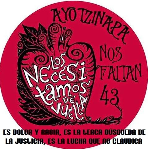 Resultado de imagen para 43 normalistas de Ayotzinapa en el corazón