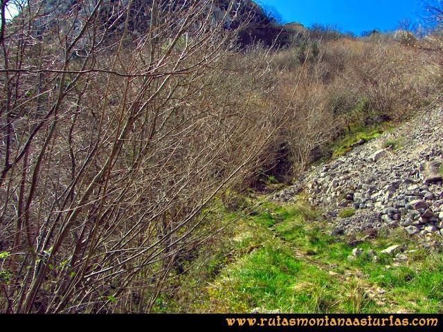 Ruta al Pico Gorrión:  Subiendo por la Bérgola