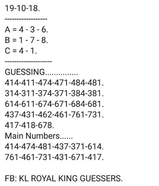Kerala lottery guessing Nirmal nr-91 19.10.2018 by Shaju bahul