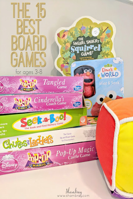Looking for board games for kids in preschool preschool or younger children.  Here are 15 great ideas, plus a great game for toddlers.
