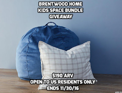 Enter the Brentwood Home Kids Space Bundle Giveaway. Ends 11/30