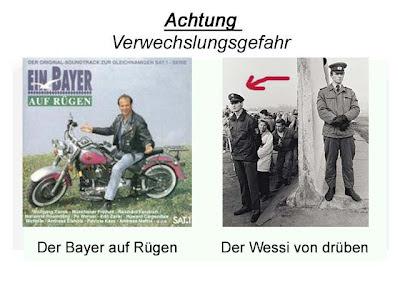 Verwechslungsgefahr Wessi Berliner Mauer Bayer auf Rügen