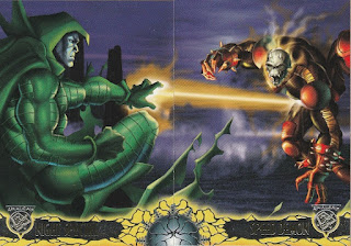 Fronts of Speed Demon vs Night Spectre trading cards from Amalgam set