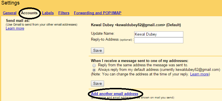Add Another Email Address To Your Gmail Account