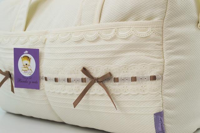 maleta bebe lencera bebe beige camel
