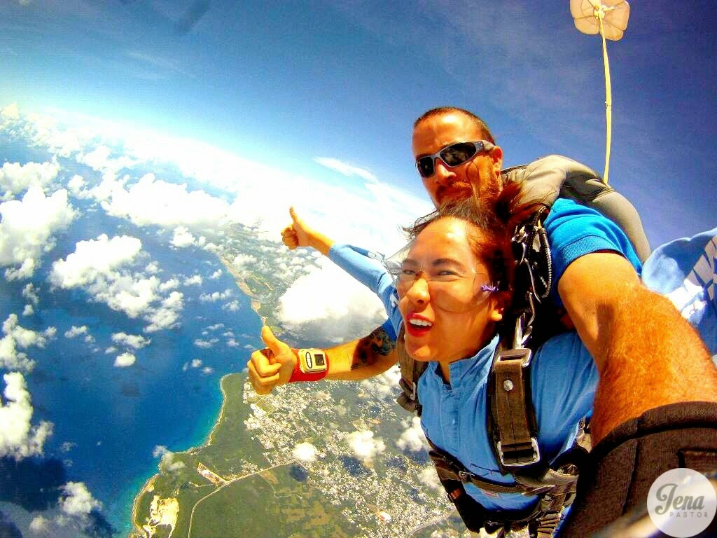 tandem skydive over marianas
