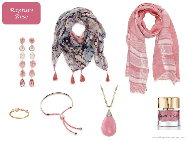 Rapture Rose accessories from Pantone Spring 2018 colors