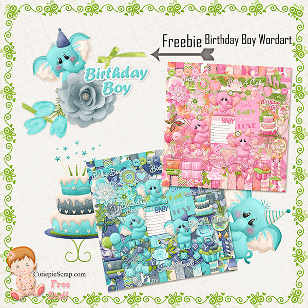 New Born Baby -Digital Scrapbook Kit