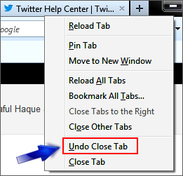 undo firefox closed tabs