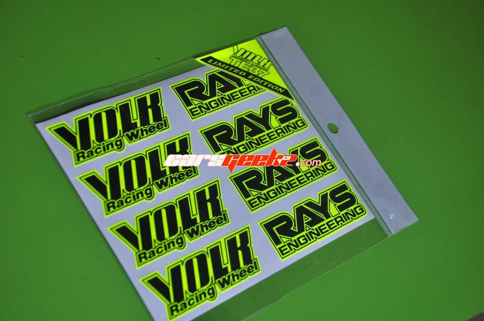 P1 Racing Sport Rim >> TE37 Volk Racing Limited Edition - Yellow Fluorescent - AutoDecalsHouse Store Online