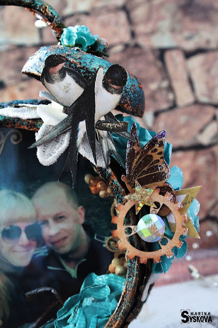 @marinasyskova #alteredart #alarmclock #scrap #scrapbooking #mixedmedia #photoframe #handmade #diy