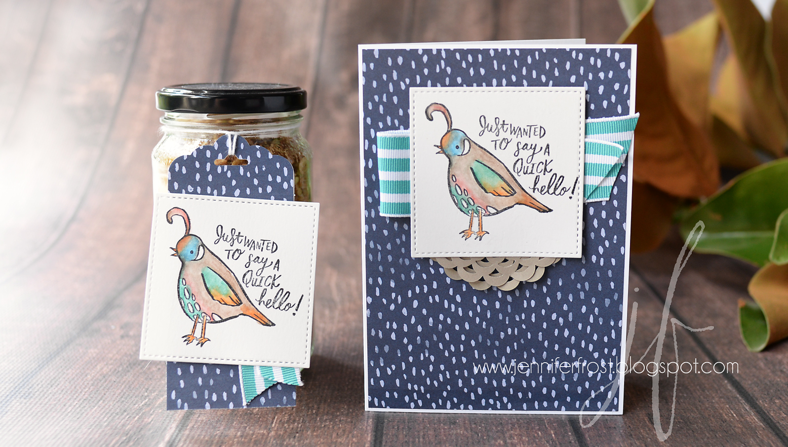 Quirky Critters, Let's Get Hopping, DIY Gift Jar inspiration, Naturally Eclectic, Homemade Muesli Recipe, Jennifer Frost, Stampin' Up!, Watercolor Pencil technique