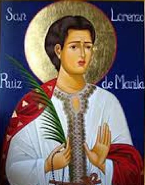 """st lorenzo ruiz With great faith and courage, he became the first filipino saint venerated in the roman catholic church, the """"most improbable of saints,"""" as st pope john paul ii described him today, filipinos everywhere in the world continue to celebrate and honor san lorenzo ruiz for his martyrdom our community."""