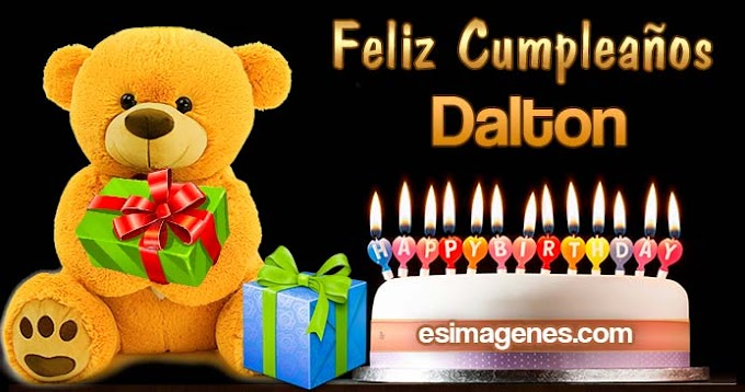 Feliz cumpleaños Dalton