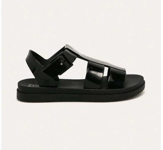 Zaxy - Sandale casual negre cu talpa palata din silicon
