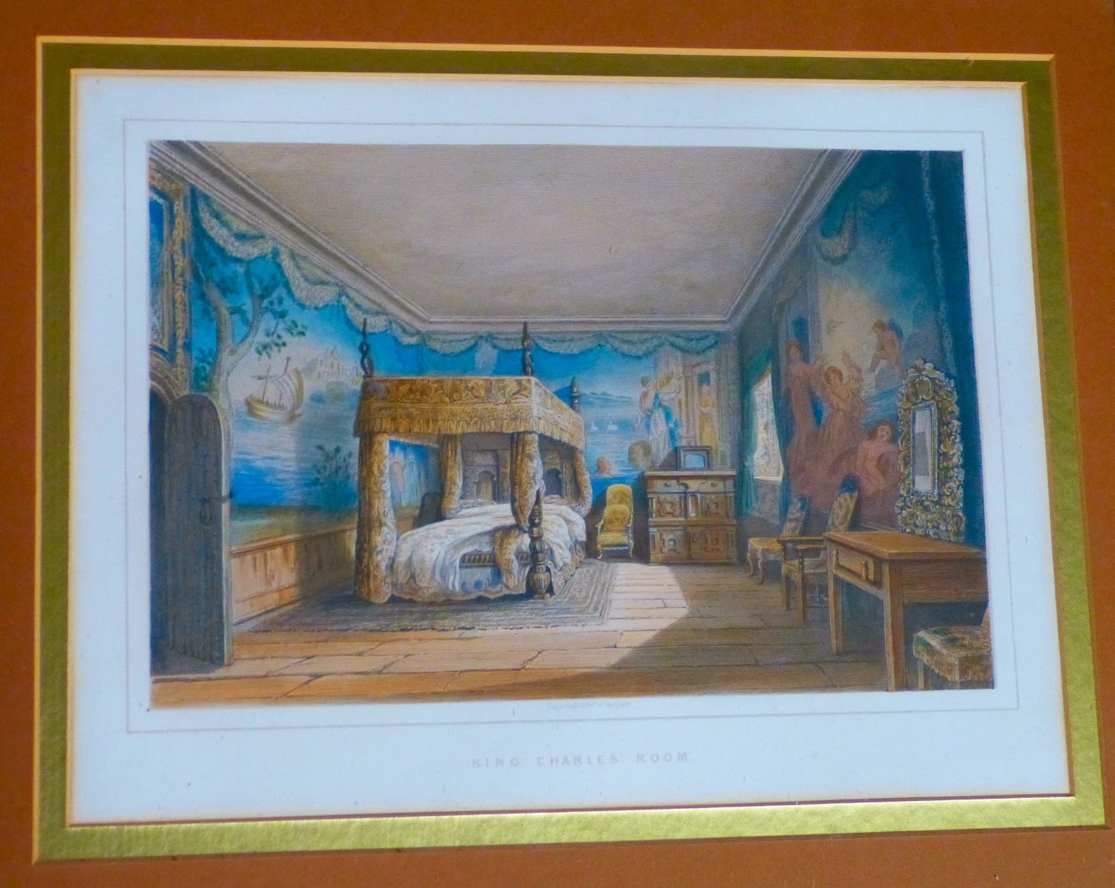 King Charles' Room - after print by Nicholas Condy (c1840)