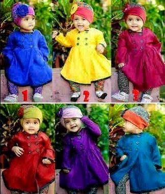 Contoh baju muslim untuk bayi perempuan