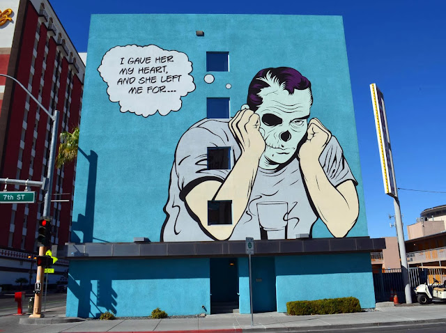 Street Art By D*Face For Life Is Beautiful Festival On The Streets Of Las Vegas, USA. 1
