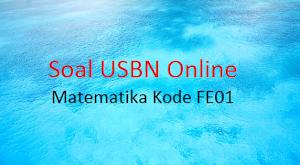 Soal TryOut Online USBN Matematika Kode FE01