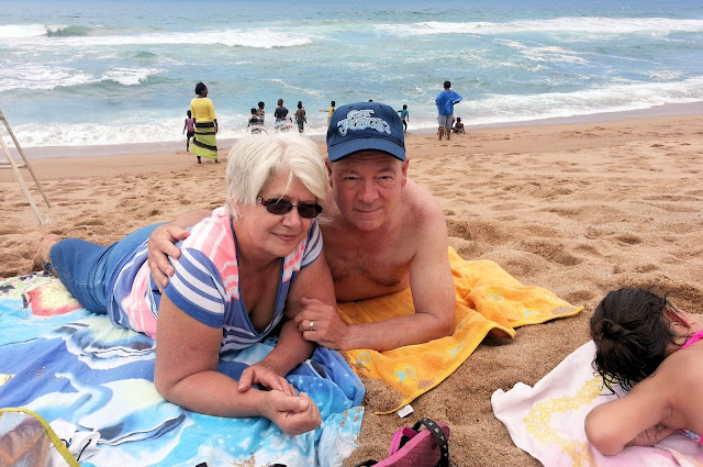 summer holiday with my wife and I on the beach