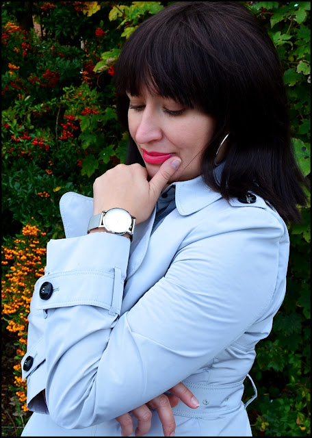 Adriana Style Blog, blog modowy Puławy, Bonprix Knitted Dress, Burberry Coat, Furla Bag, Saint London XVI Silver Mayfair Watch, Stilnest Necklace, Sukienka dzianinowa Bonprix, Torebka Furla, Trench Burberry