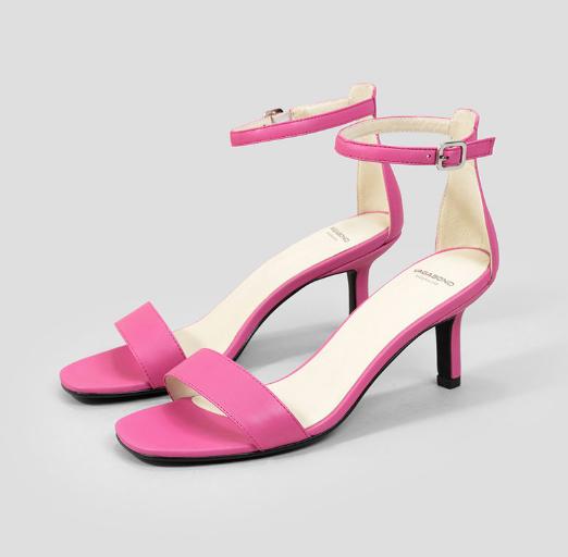 Vagabond Shoemakers Sandale de piele cu toc kitten fucsia elegante de zi