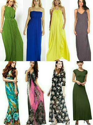 Types of maxi dresses