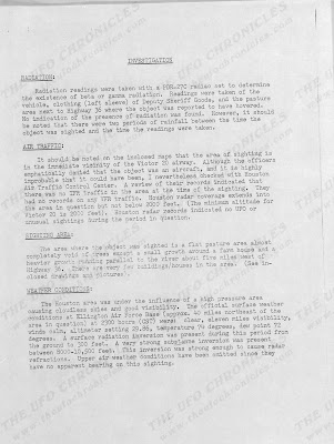 UFO Incident Damon, Texas Report To FTD (2) 9-10-1965