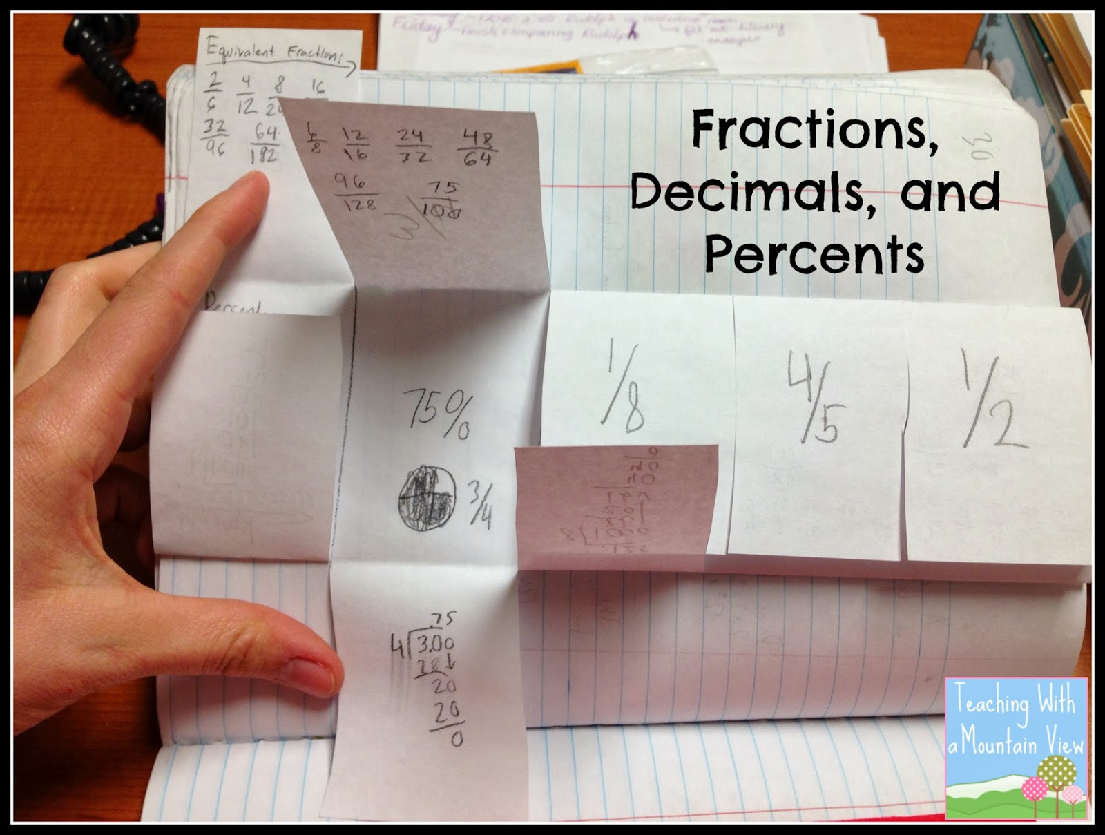 Teaching With A Mountain View Percents Decimals