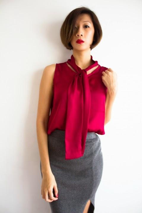 7860983b1bff2a Hook Clothing  Highneck Drape Back Tee   Basic Off Shoulder Long Sleeve Top