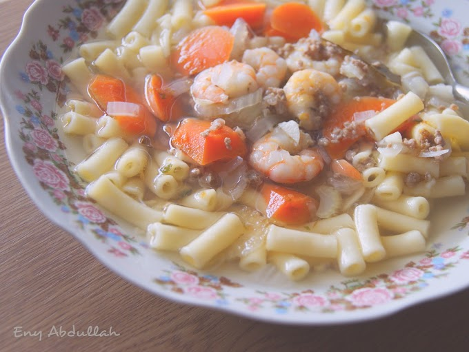 Pasta Sup Campak Campak for Dinner
