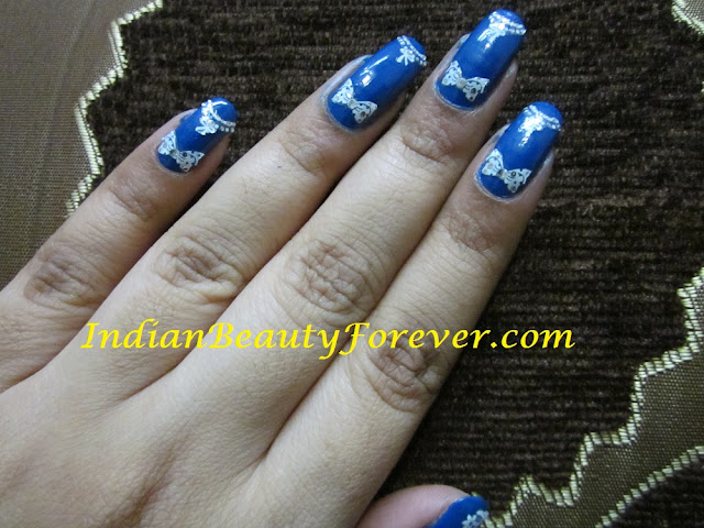 nail art at home bows