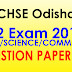 Question Bank: CHSE +2 2nd Year Exam 2017 (Arts/Sc/Com) All Question Paper PDF