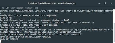 Membuat Hotspot di Linux dengan create_ap