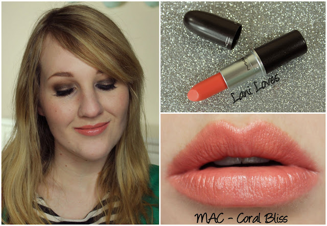 MAC Coral Bliss lipstick swatch