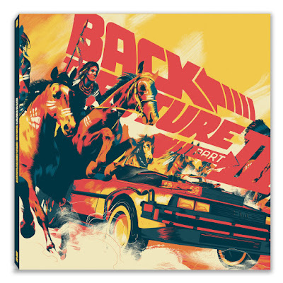 Back to the Future Part III Soundtrack Vinyl Records by Mondo with artwork by Matt Taylor