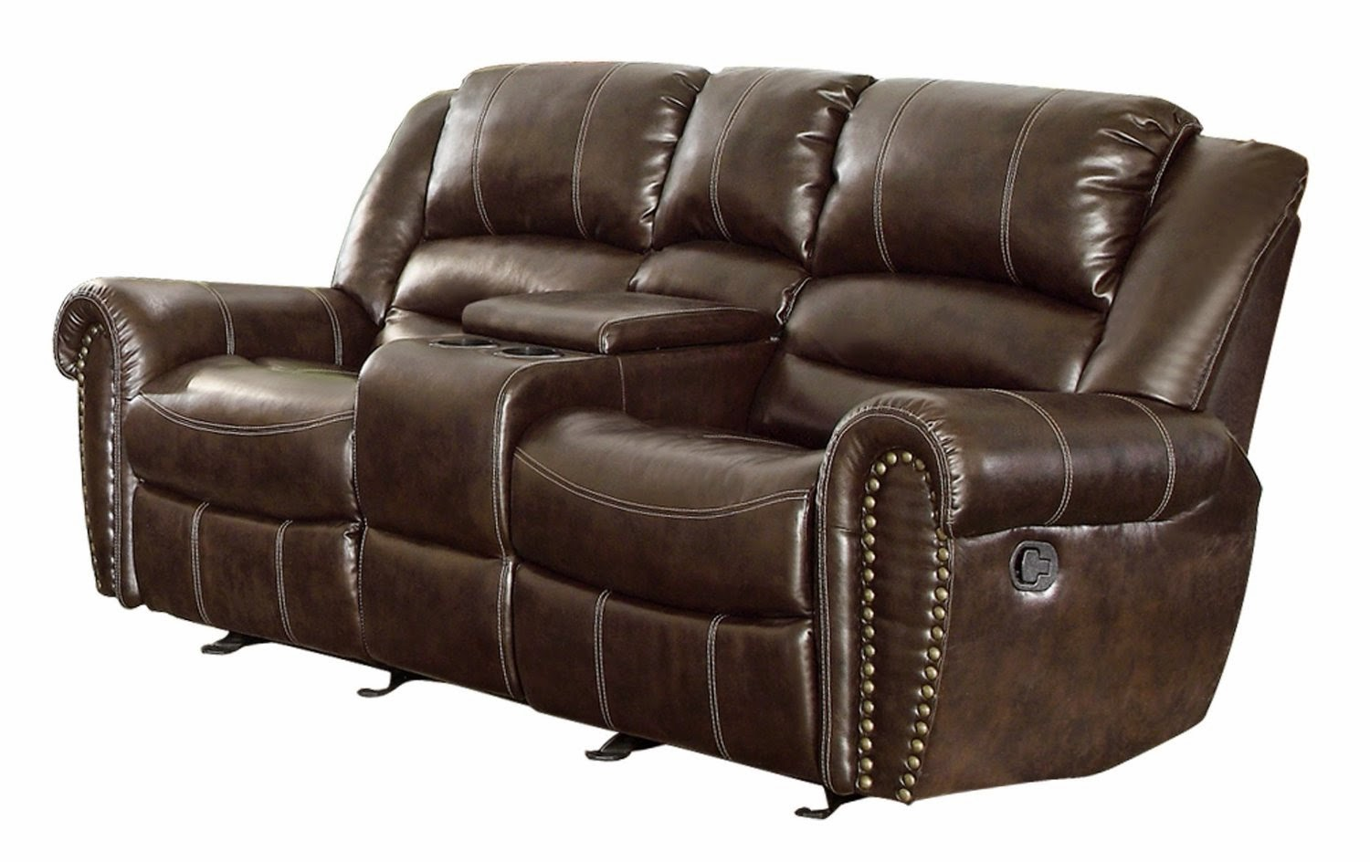 Reclining sofa loveseat and chair sets two seat reclining for Leather sofa set