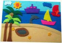 Mainan kain flanel playboard