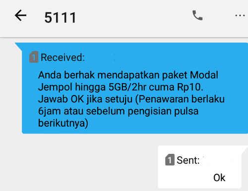 paket modal jempol telkomsel
