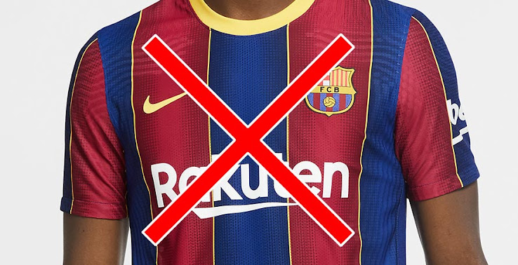 Update Only Replica Affected Barcelona 20 21 Home Kit Launch Canceled Due To Color Fading Footy Headlines