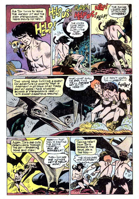 Tor v1 #5 st john golden age comic book page art by Joe Kubert