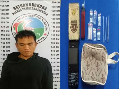 Polres Siantar Ringkus Bandar Narkoba di Sipinggol-Pinggol