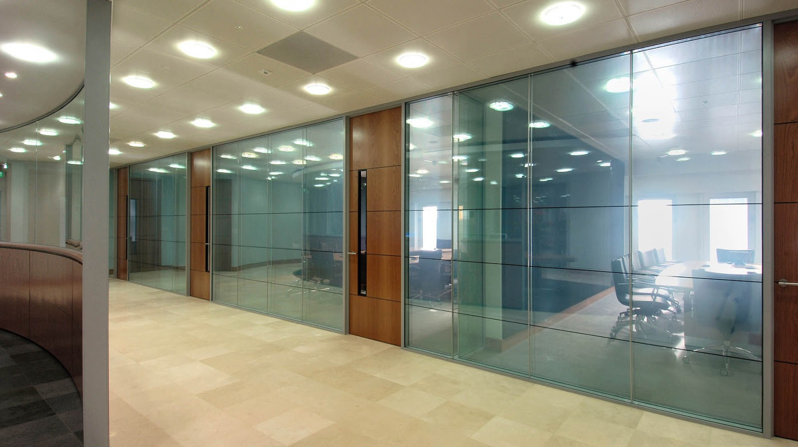 Glass walls in offices