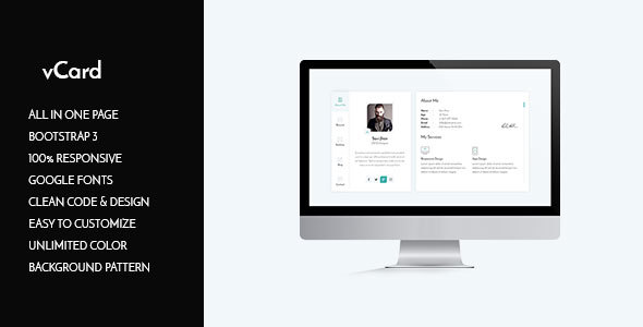 vCard HTML Template | Download Website Templates And Themes For Free ...