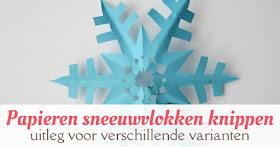 papieren sneeuwvlok knippen
