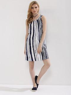 Stripped tunic dress