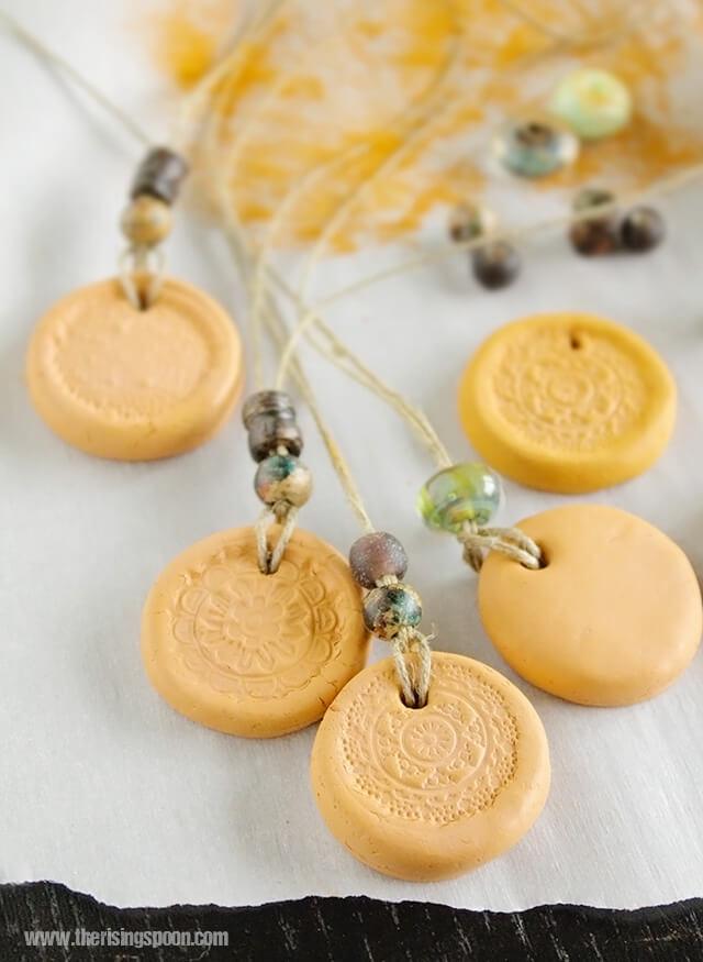 DIY Clay Essential Oil Diffuser Necklace
