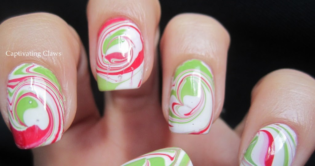 Captivating Claws Peppermint Swirl Water Marble