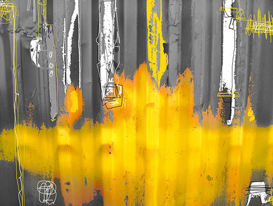 yellow, grey, black, white, contemporary art, neo expressionist, abstract art, painting, neo expressionist painting, artist, artwork, Sam Freek,