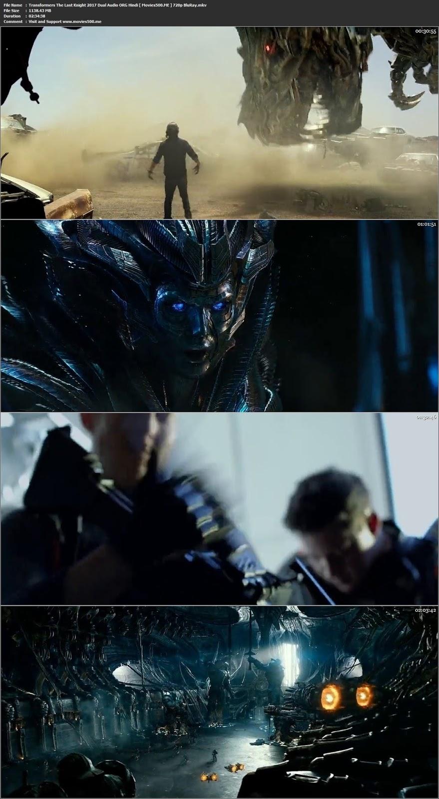 Transformers The Last Knight 2017 Dual Audio ORG Hindi BRRip 720p 1GB at movies500.site